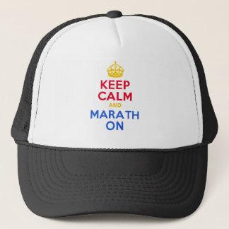 KEEP CALM and MARATH ON Trucker Hat