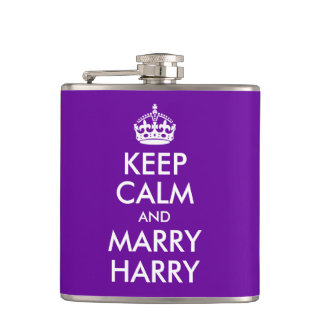 Keep Calm and Marry Harry Hip Flask