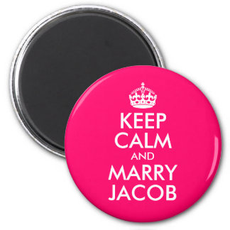 Keep Calm and Marry Jacob 6 Cm Round Magnet