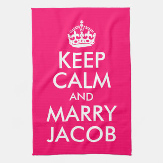 Keep Calm and Marry Jacob Tea Towel
