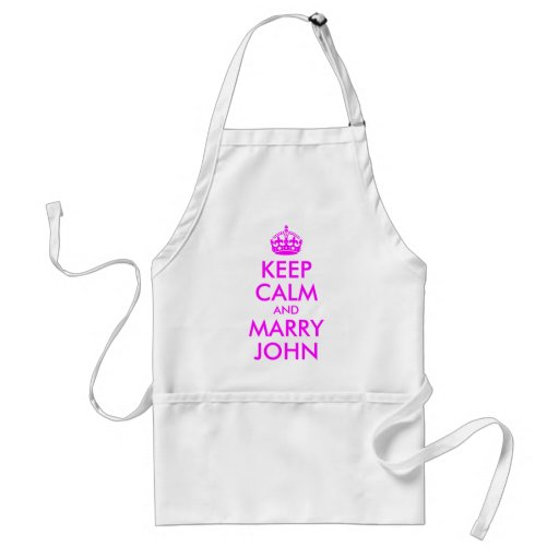 Keep Calm and Marry John Apron