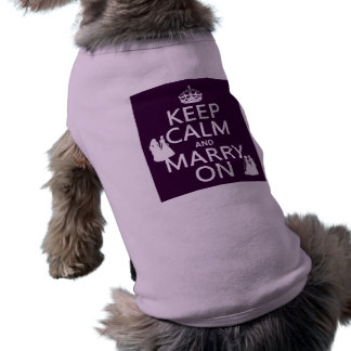 Keep Calm and Marry On - all colors Sleeveless Dog Shirt