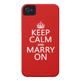 Keep Calm and Marry On (all colours) iPhone 4 Cases
