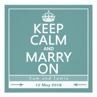 Keep Calm and Marry On Invitations