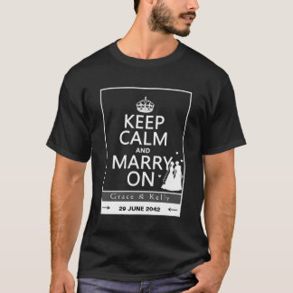 Keep Calm and Marry On Lesbian Wedding T-Shirt