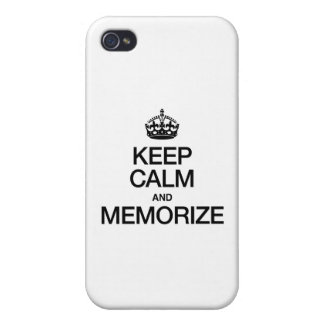KEEP CALM AND MEMORIZE iPhone 4 COVER
