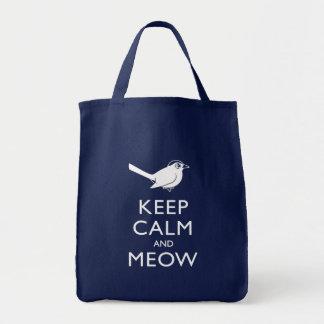 Keep Calm and Meow Tote Bags