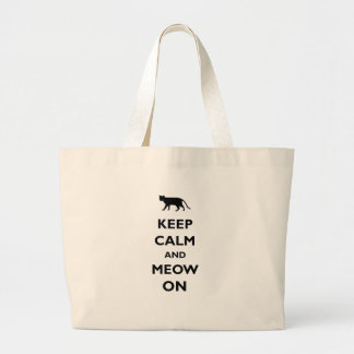 Keep Calm And Meow On Tote Bags