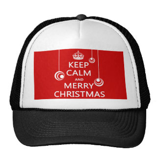 Keep Calm and Merry Christmas Trucker Hat