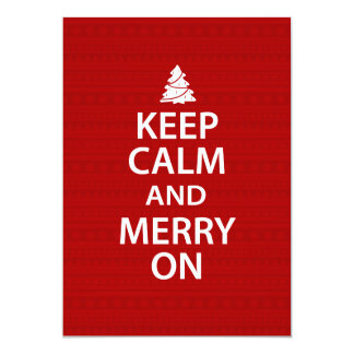 Keep Calm and Merry On Card