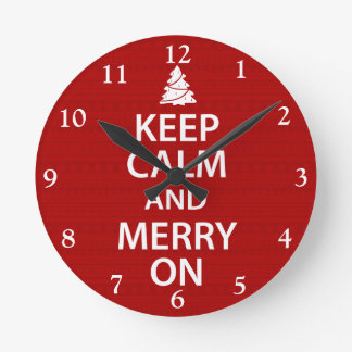 Keep Calm and Merry On Clocks
