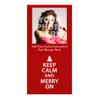Keep Calm and Merry On Customised Photo Card