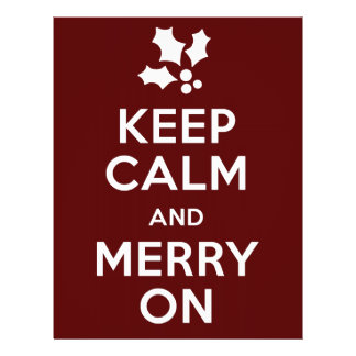Keep Calm and Merry On Flyer Design