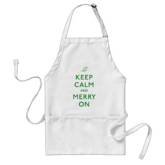 Keep Calm and Merry On Standard Apron