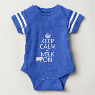 Keep Calm and Milk On (cows) (in all colors) Baby Bodysuit