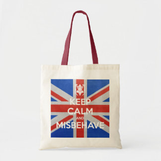 Keep Calm and Misbehave Tote Bag