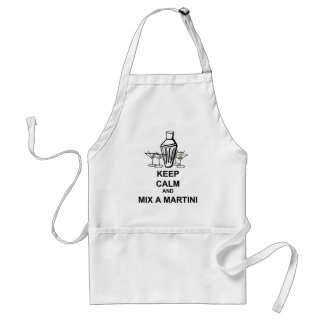 Keep Calm and Mix a Martini Apron