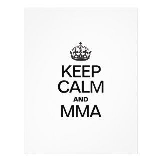KEEP CALM AND MMA FULL COLOR FLYER