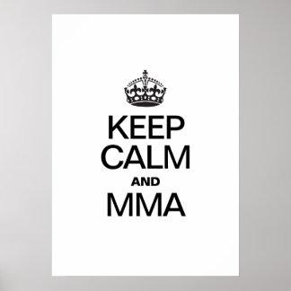 KEEP CALM AND MMA PRINT