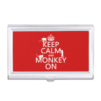 Keep Calm and Monkey On - all colours Business Card Holder
