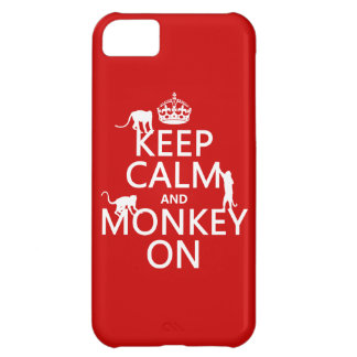 Keep Calm and Monkey On - all colours iPhone 5C Case