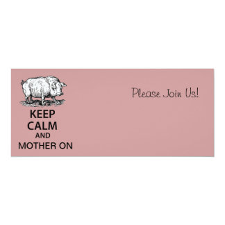 Keep Calm and Mother On 10 Cm X 24 Cm Invitation Card