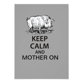 Keep Calm and Mother On 11 Cm X 16 Cm Invitation Card
