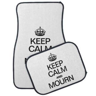 KEEP CALM AND MOURN FLOOR MAT