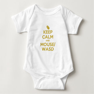 Keep Calm and Mouse WASD Baby Bodysuit
