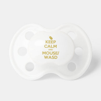 Keep Calm and Mouse WASD Baby Pacifier