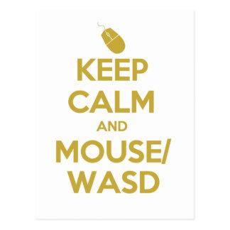 Keep Calm and Mouse WASD Postcard