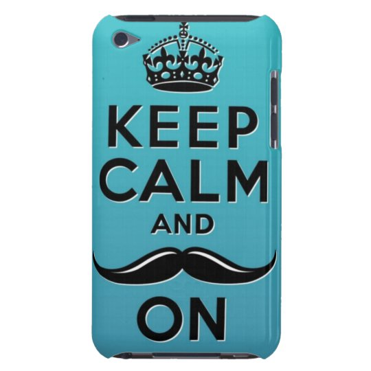 Keep Calm and Moustache ON Case-Mate iPod Touch Case