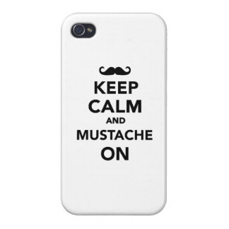 Keep calm and Mustache on iPhone 4/4S Cover