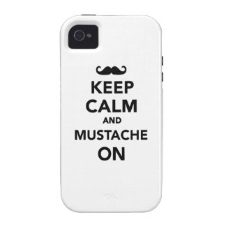 Keep calm and Mustache on iPhone 4 Cover