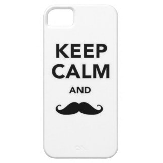 Keep Calm and Mustahce iPhone 5 Covers