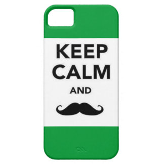 Keep Calm and Mustahce iPhone 5 Case