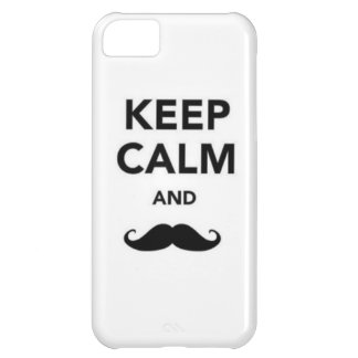Keep Calm and Mustahce iPhone 5C Covers