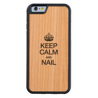 KEEP CALM AND NAIL CARVED® CHERRY iPhone 6 BUMPER