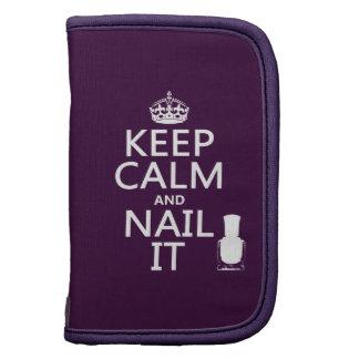 Keep Calm and Nail It (Nail polish) Folio Planner