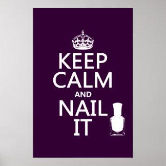 Keep Calm and Nail It (Nail polish) Poster