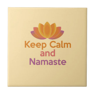 Keep Calm and Namaste - Yoga, Relax, Zen Tile