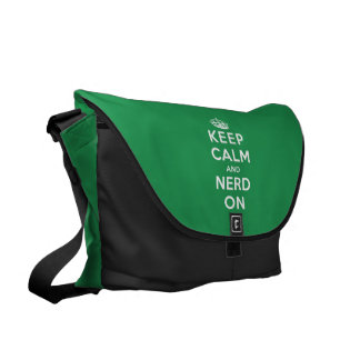 Keep Calm and Nerd On Commuter Bags