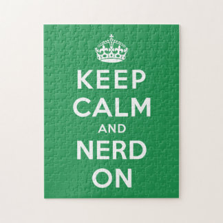 Keep Calm and Nerd On Jigsaw Puzzle