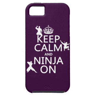 Keep Calm and Ninja On (in any color) iPhone 5 Cases