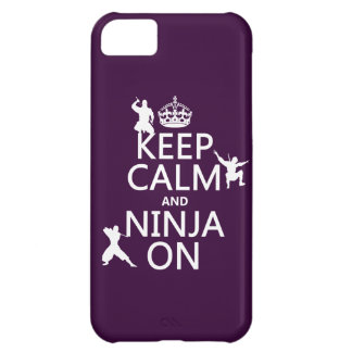 Keep Calm and Ninja On (in any color) iPhone 5C Case