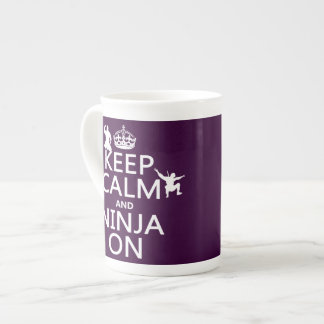 Keep Calm and Ninja On in any color Porcelain Mugs