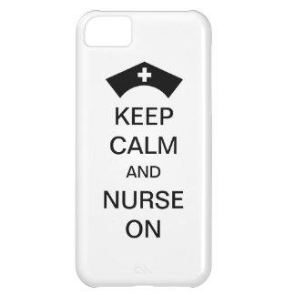 KEEP CALM AND NURSE ON PHONE CASE iPhone 5C CASE