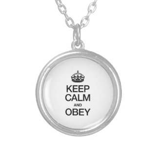 KEEP CALM AND OBEY CUSTOM NECKLACE