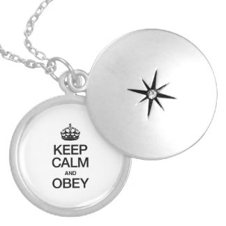KEEP CALM AND OBEY PERSONALIZED NECKLACE