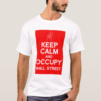 Keep calm and occupy wall street t-shirt